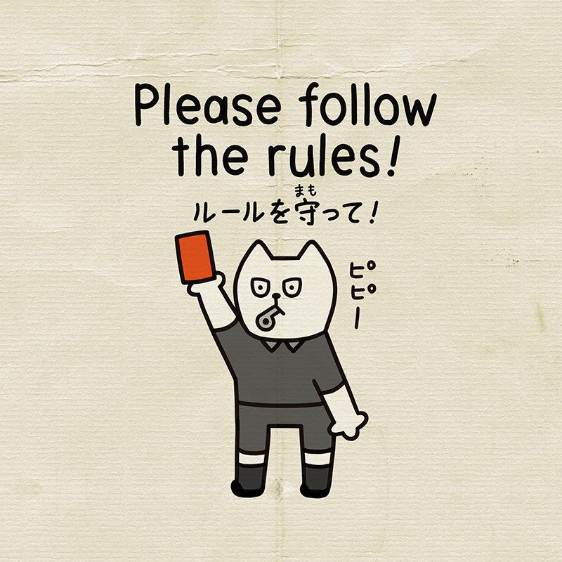 ルールを守っては英語でfollow the rules