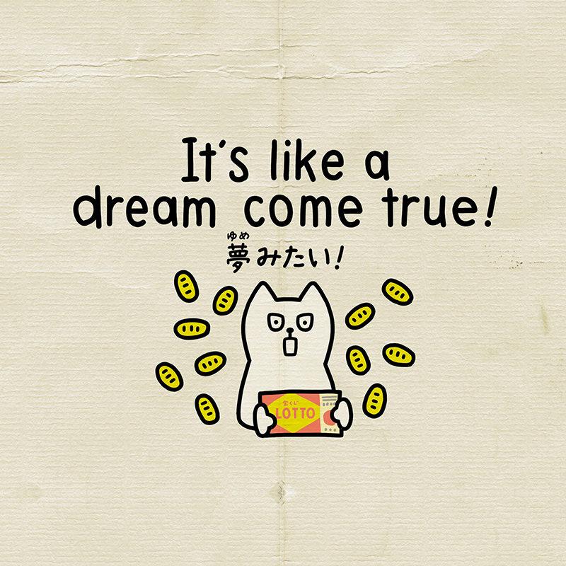 夢見たいは英語でdream come true