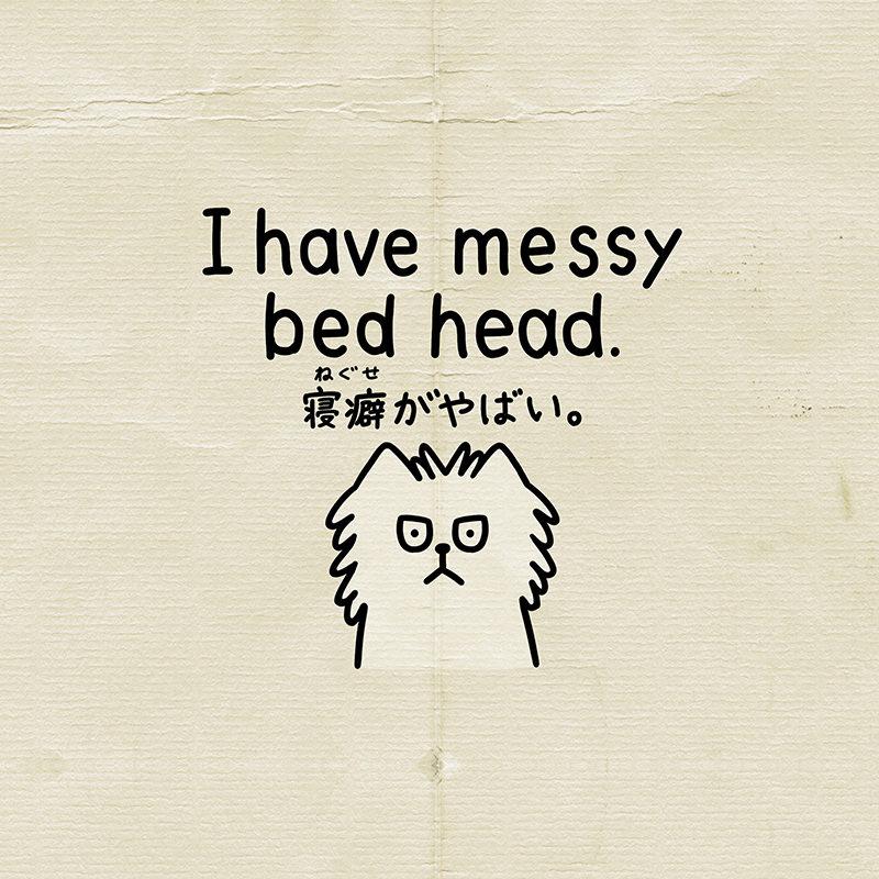 寝ぐせは英語でbed head